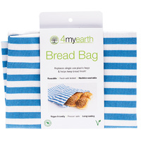 Cotton Bread Bag – Denim Stripe