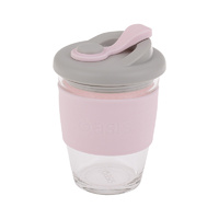 Glass Reusable Coffee Cup - Soft Pink
