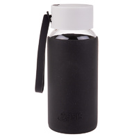 Glass Drink Bottle - Black
