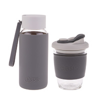 Matchy-Matchy Reusable Cup and Bottle Combo - Charcoal