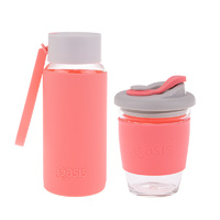 Matchy-Matchy Reusable Cup and Bottle Combo - Coral