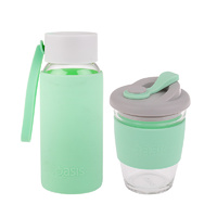Matchy-Matchy Reusable Cup and Bottle Combo - Mint