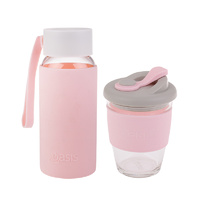 Matchy-Matchy Reusable Cup and Bottle Combo - Pink