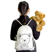 Calico Drawstring Bag - Teddy Bear