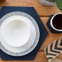 Hexagonal Placemat and Coaster Set