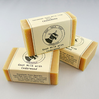 Handmade Cedarwood Goat Milk Soap 3-pack