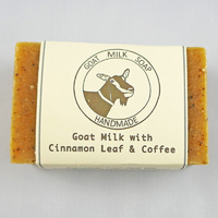 Handmade Cinnamon Coffee Goat Milk Soap