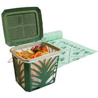 Ventilated Kitchen Caddy with Compostable Liners