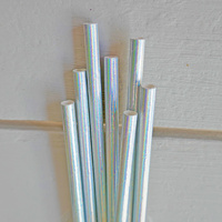 Iridescent Kraft Paper Straws 20-pack