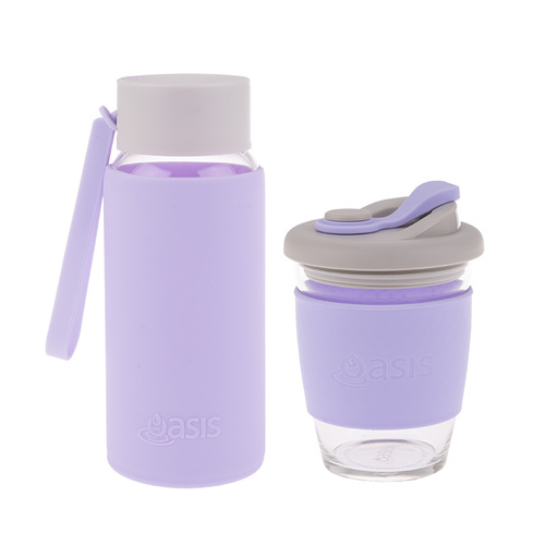 Matchy-Matchy Reusable Cup and Bottle Combo - Lilac